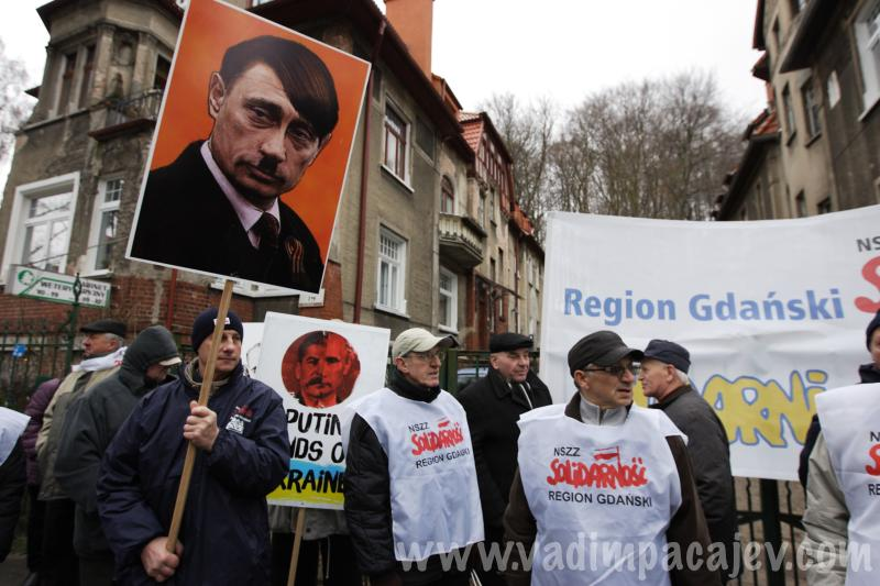 Solidarity Union rally to support Ukraine in Gdansk, Poland
