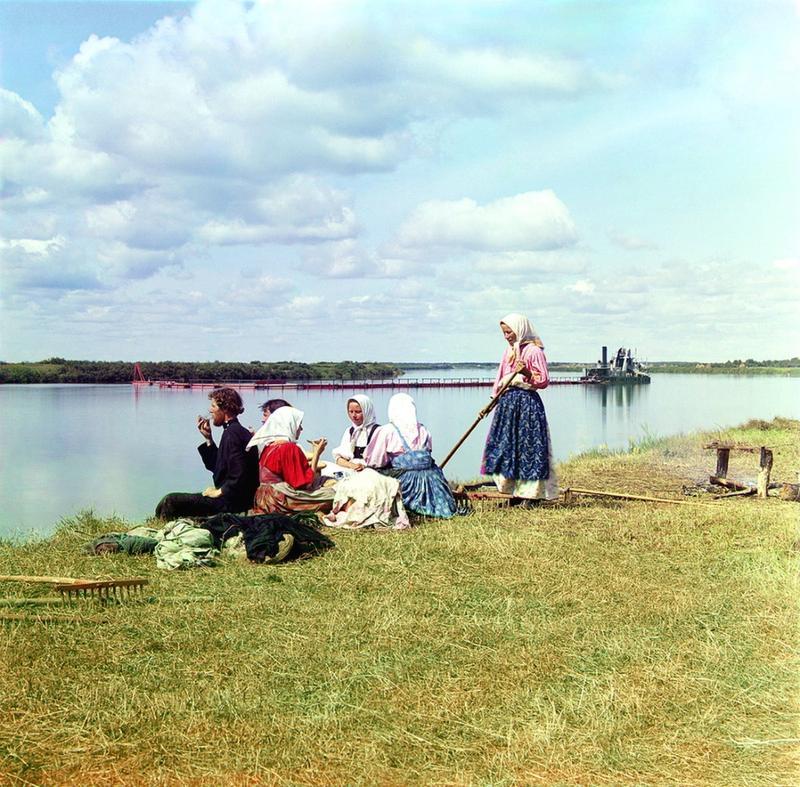 Obiad podczas sianokosów, 1909 rok