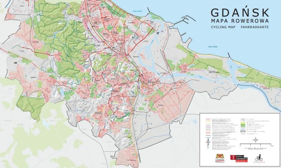 mapa rowerowa gda
