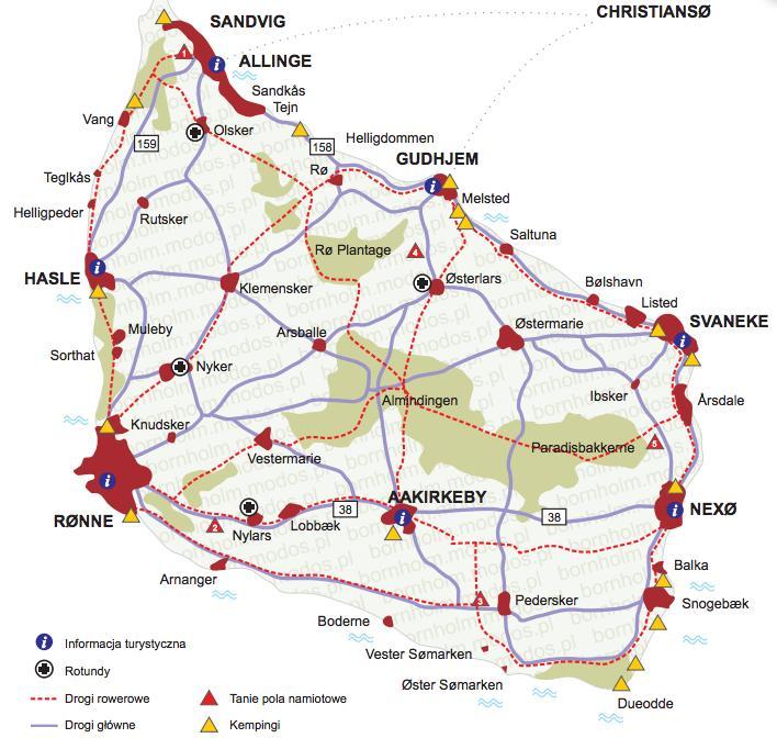 Mapka pochodzi ze strony bornholm.modos.pl