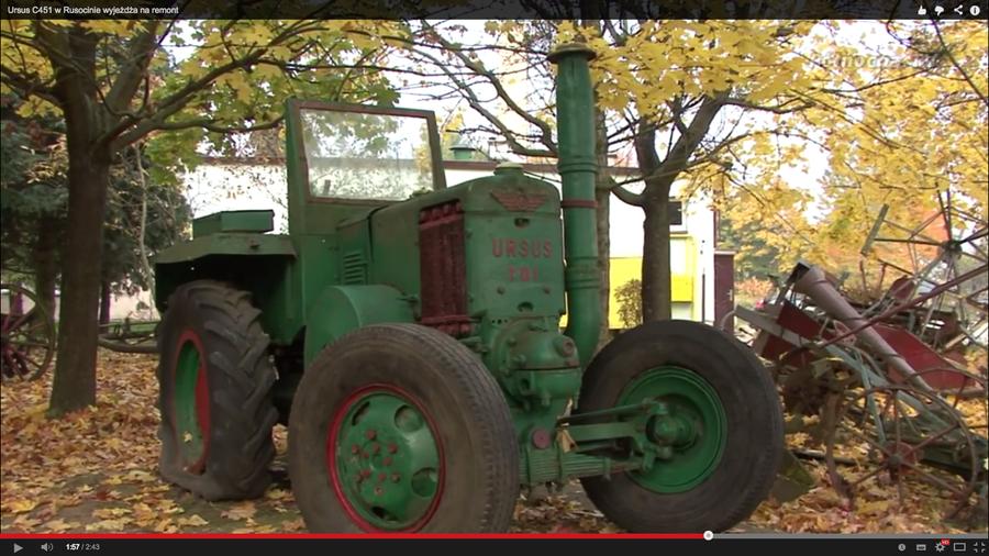 Tak wyglądał ciągnik przed renowacją